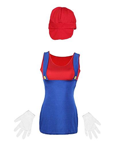 Disfraz de Mario para Mujer de Emma