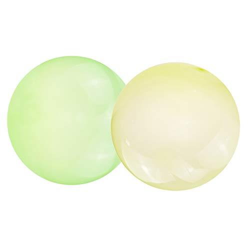lahomia Paquete de 2 Bolas de Globo de Bolas de Burbujas Piscina Al Aire Libre Cumpleaños Juguetes para Adultos 70 Cm