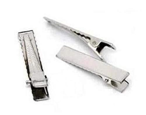 Dorime 50 x Silber Alligatorkrokodilklemme Haar Brosche Schieber 4 cm 40 mm