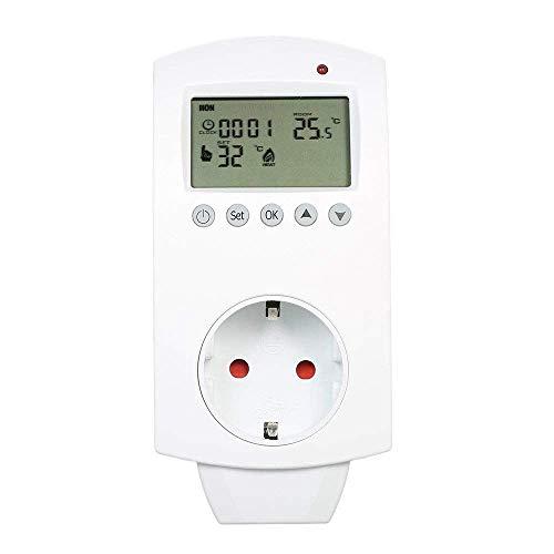 JVSISM Controlador de Temperatura Eléctrico Inalámbrico Termostato Programable de Calefacción Por Suelo Cámara Calentador de Agua Con Pantalla Lcd