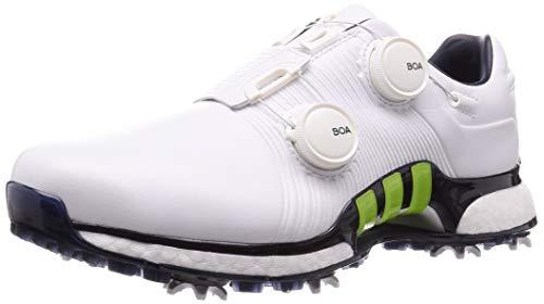 adidas Herren Tour360 Xt Boa Golfschuhe, Weiß (Blanco/Lima/Azul Navy F35403), 40 2/3 EU