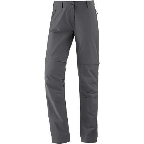 Schöffel Pants Ascona Zip Off, leichte und komfortable Damen Hose mit optimaler Passform, flexible Outdoor Hose für Frauen Damen, asphalt, 40