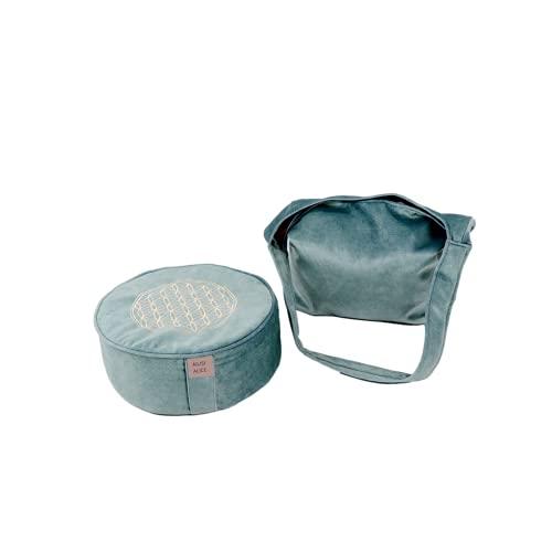 Cojín de meditación, yoga y meditación, con mochila, adecuado para meditación de yoga en interiores y meditación al aire libre.