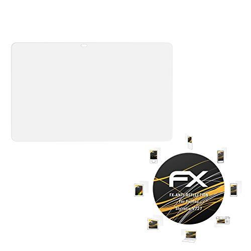 atFolix Panzerfolie kompatibel mit Fujitsu Stylistic V727 Schutzfolie, entspiegelnde & stoßdämpfende FX Folie (2X)