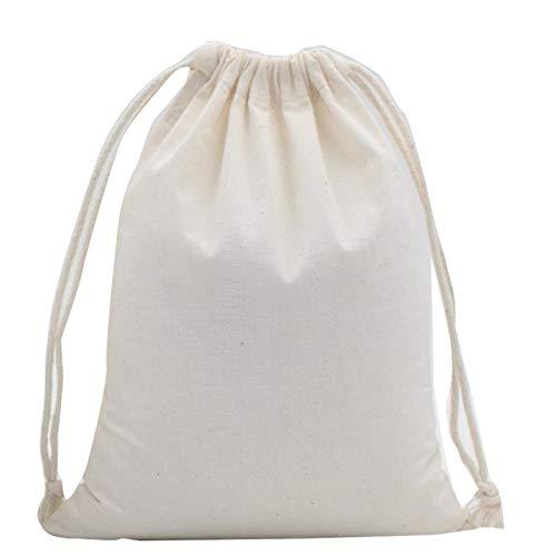 2 bolsas de algodón biodegradables con cordón de almacenamiento, bolsas de embalaje de alimentos para bodas, fiestas y otros festivales.