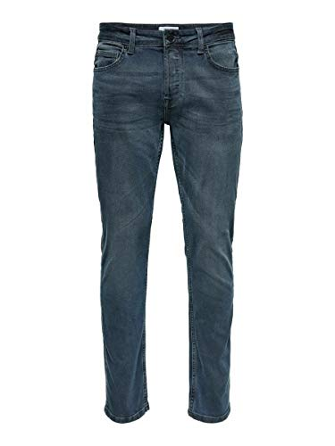Only & Sons Onsloom Life Slim PK 7090 Noos Jeans, Grey Denim, 33W x 34L para Hombre