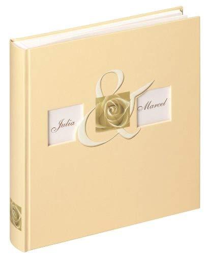 Walther UH-175 bruiloftsalbum - Together met stanswerk voor persoonlijke vormgeving, 60 pagina's, 28 x 30,5 cm beige