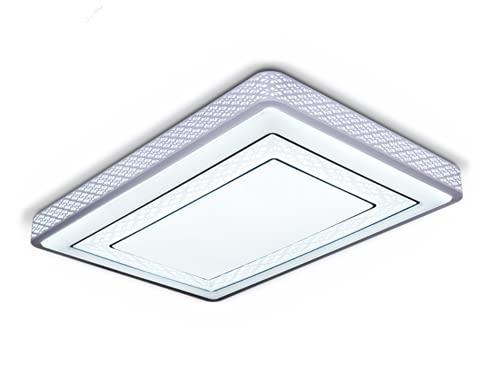 Led Lámpara De Techo Regulable Plafon De Techo Salón Dormitorio Iluminación De Techo 98 * 65Cm72W Luz Blanca Lámpara Redonda Atmosférica