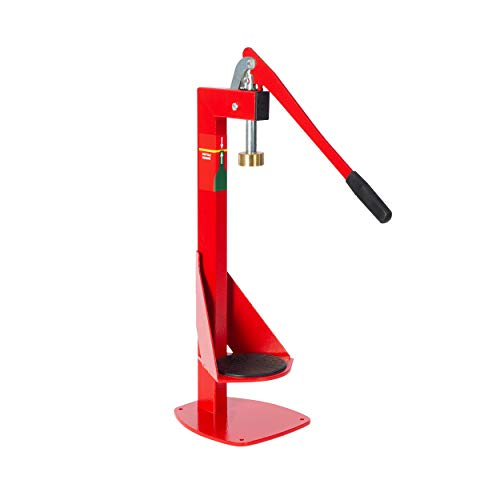 North Mountain Supply - BC-AM Heavy Duty All-Metal Easy Action Bench Bottle Capper Red