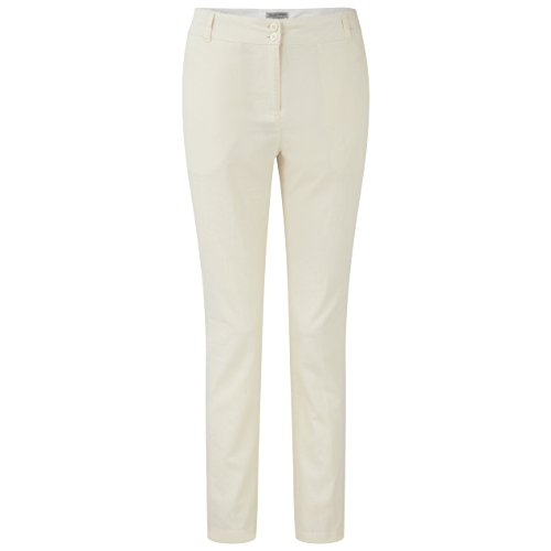 Craghoppers Pantalon Outdoor Voyage Lin Odette 38 Blanc - Calico