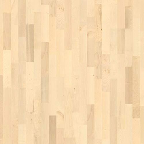 Handmuster zu: Parkett Fertigparkett 3-Schicht Klick Parkett Ahorn Schiffsboden Lackiert 2390 x 200 x 11 mm