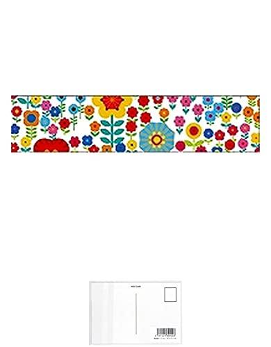 カモ井加工紙 ex マスキングテープ (小花・花畑) 【 3 巻 】 + 画材屋ドットコム ポストカードA