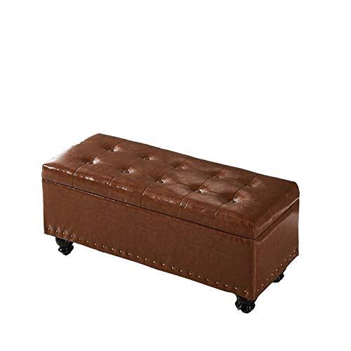 Reposapiés con almacenamiento Sofá taburete rectangular almacenamiento en el extremo de la cama de la cama de la casa de la entrada de la entrada de la casa cambiante Hall Hall Sofá Taburete de almace