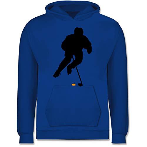 Sport Kind - Eishockey Spieler - 98 (1/2 Jahre) - Royalblau - Jungs Pulli - JH001K JH001J Just Hoods Kids Hoodie - Kinder Hoodie