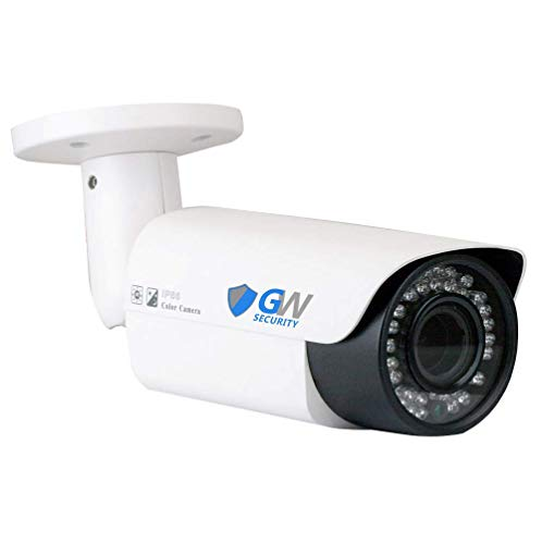 GW Security 5 Megapixel 2592 x 1920 Pixel Super HD 1920P Outdoor PoE 120FT Night Vision Weatherproof Security IP Camera with 2.8-12mm Varifocal Zoom Len