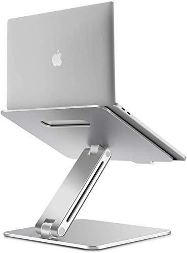 JaxtexTop Laptop Stand, Ergonomic Adjustable Laptop Holder Laptop Riser Aluminum Notebook Computer Holder Stand Compatible with MacBook, Air, Pro, Dell XPS, Samsung, Alienware All Laptops 10-17'