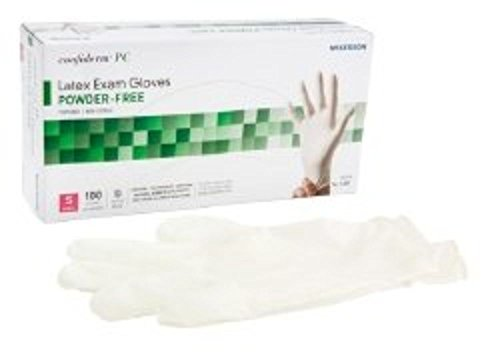 Exam Glove McKesson Confiderm NonSterile Powder Free Latex Textured Ivory Small Ambidextrous (#14-1381, Sold Per Box)