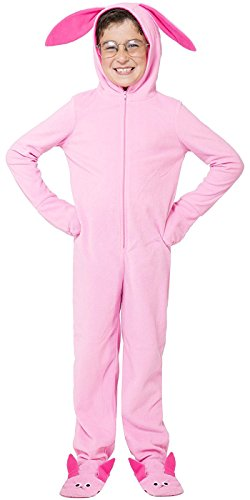A Christmas Story Kids' One Piece Bunny Pajama Union Suit Outfit (S/M)