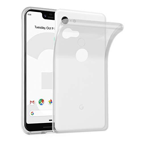 Cadorabo Hülle für Google Pixel 3 XL in VOLL TRANSPARENT - Handyhülle aus flexiblem TPU Silikon - Silikonhülle Schutzhülle Ultra Slim Soft Back Cover Hülle Bumper