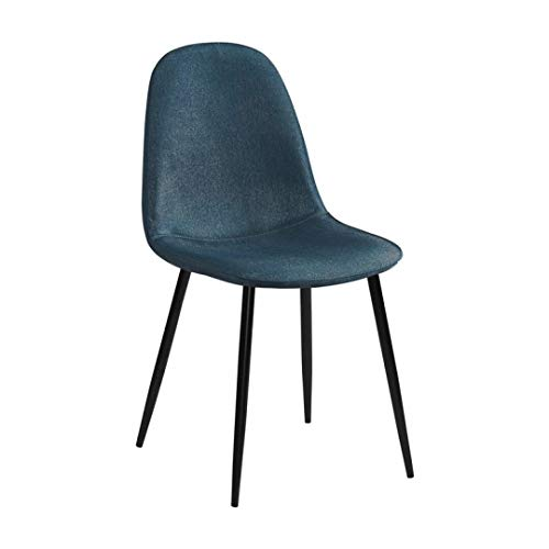 Zons Stockholm Stuhl, skandinavisch, Stoff, blau und schwarz