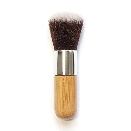 Tête de brosse ronde multifonctionnelle tête de brosse universelle manche en bambou brosse de blush en bambou carbonisé