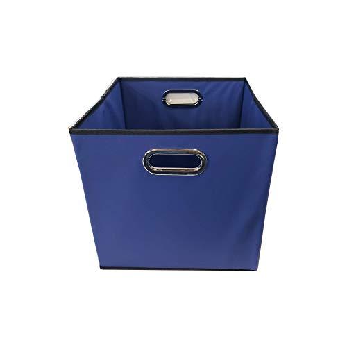 Alexi Ricci Blue Folding Storage Bin Basket Holder 13x13x13 Inch