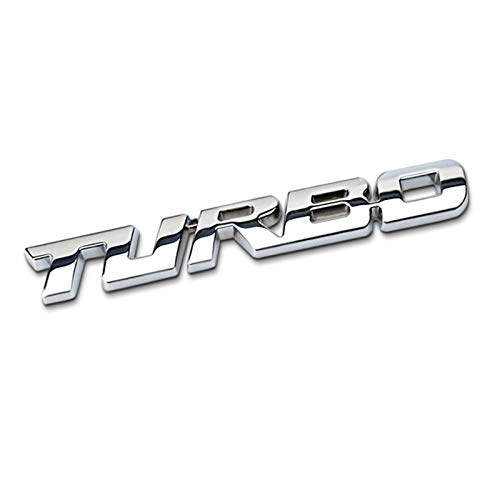 None/Brand Turbo Car Stemmi Emblemi Sticker per C-Hevrolet Malibu Cruz - Chrome,Argento