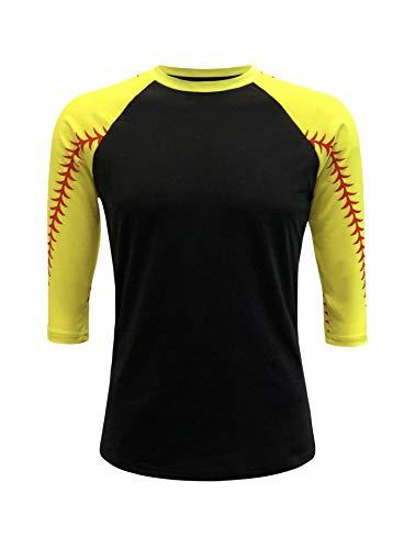 ILTEX Baseball Softball Raglan Tshirt Jersey (Softball, Medium)