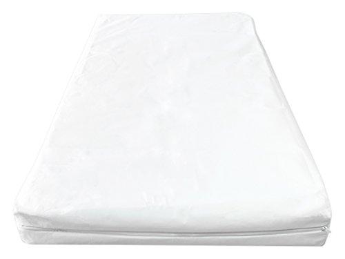 Briljant Baby Evolon - Anti Allergie Matratzenbezug mit Reißverschluss 60 x 120 + 15 cm, Weiß