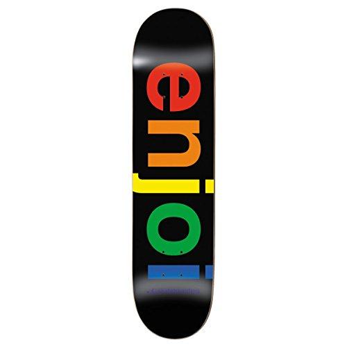 Enjoi Spectrum Tablett Skateboard-Unisex, Uni, ENDK0087, Schwarz, 8,25