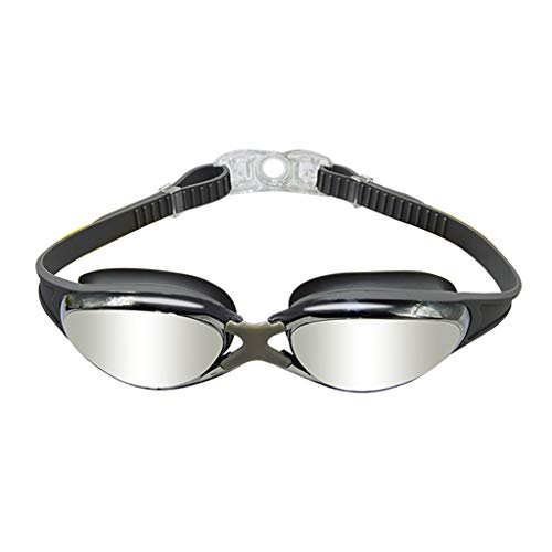 Flurries 🥽 HD Swimming Goggles - Underwater Glasses No Leak Wide View - UV Protection & Anti-Fog Lenses - Flexible Nose Bridge - Buckle Easy to Take Off for Adult Men Women Youth (Gray)