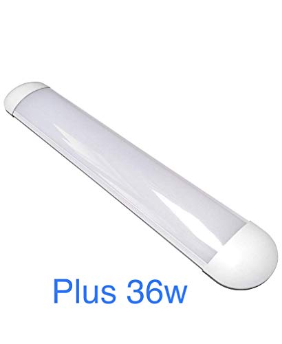 Led Atomant Pantalla 60 cm Plus, Doble Potencia, 36 W, Color Blanco Frio 6500K, Tubo Integrado T8 Equivalente a 4 Tubos Fluorescentes 3400 LM, Regleta Led Slim