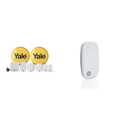 Yale IA-330 Sync Smart Home Alarm, works with Alexa, Google & Philips Hue. 9-piece kit, Self-Monitored, Geofencing, 200m range & AC-DC Sync Smart Home Alarm Accessory Door/Window Sensor, White