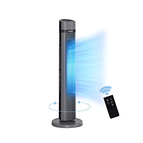 PELONIS PFT40A4AGB Electric Oscillating Stand Up Tower Fan with Quiet Cooling, 3 Speed, up to 15h Timer,LED Display, Remote Control Included, 40-inch Black 2020 New Model