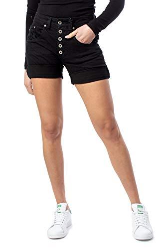 Please Shorts Damen Denim Corto p88aho2m07 m schwarz