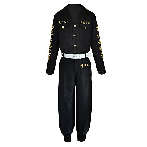 JINSIKUO Tokyo Revengers Cosplay Disfraz Ken Ryuguji Draken Chaqueta Pantalones Peluca Jacket Ropa Peluca Draken Trajes de Uniforme Halloween