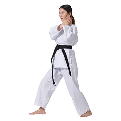 of martial arts uniforms JXS-Outdoor Taekwondo Uniform - TKD Martial Arts MMA Judo Karate - V-Neck Martial Arts Clothing Karate Uniform - with White Belt