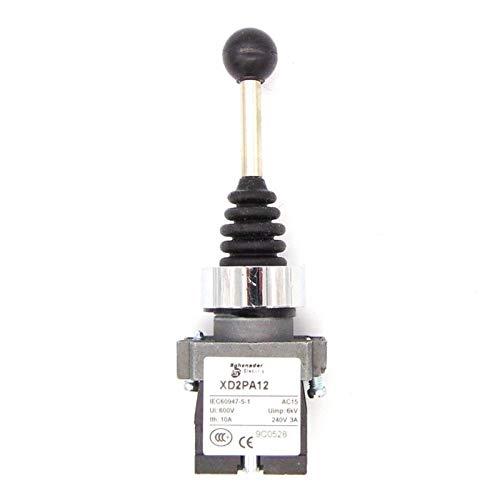 Kfdzsw Interruptor Giratorio Controlador de Joystick XD2-PA12, Interruptor de Joystick de Retorno de Primavera XD2-PA12CR interruptores rotativos automáticos