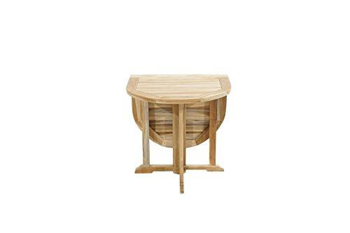 Ploß Outdoor furniture Vancouver Balkontisch, Eco Teak Natur, 120 x 70 x 75 cm