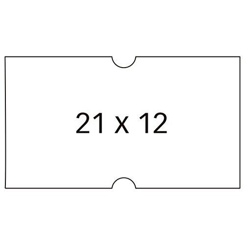 APLI 100911 - Pack de 6 rollos para etiquetadora, color blanco