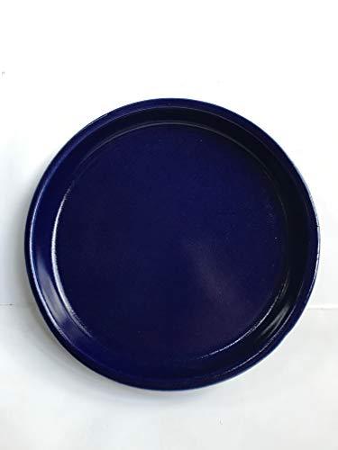 K & K sotto ciotola/sottovaso rotondo per vaso venus II senza e con manico 40 x 32 cm - Ø 32 cm, verde in gres (ceramica di alta qualità)