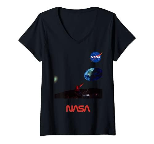 Donna Planetario Della NASA Un Tour Del Sistema Solare Arte Regalo Maglietta con Collo a V