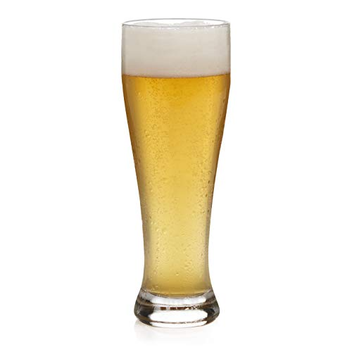 Libbey Giant Wheat Beer Glasses, Set of 6