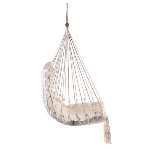 CHENTAOCS Draagbare Hangmat Indoor Outdoor Hanging Bed katoenen touw Tassel Canvas Hangmatten Swing Chair Garden Opknoping Hangstoel Seat (Color : 1pc)