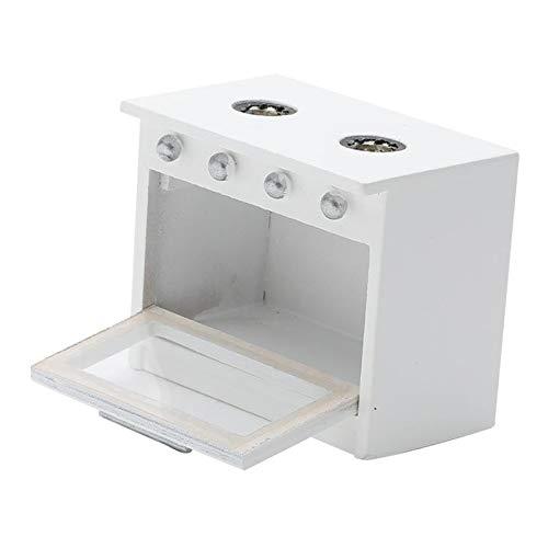 SM SunniMix 1:12 casa de muñecas Cocina Blanca Cocina Moderna miniaturas Muebles de Cocina Regalo para Navidad, Día de San Valentín