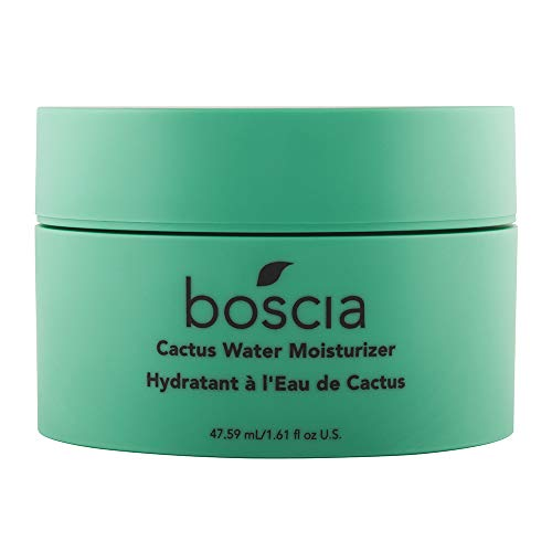 boscia Cactus Water Moisturizer - Vegan, Cruelty-Free, Natural and Clean Skincare | Cactus and Aloe Vera Daily Lightweight Gel Moisturizer, 1.61 fl Oz