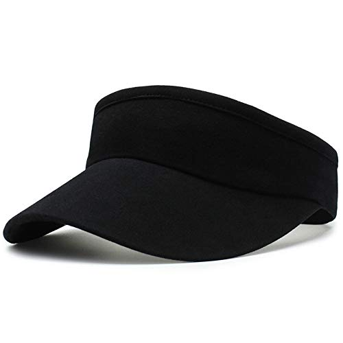 Fasbys Visier Sports Hüte Damen Mädchen Breathable Lange Krempe leer Top Cap Visier zum Joggen (Style3_Black)