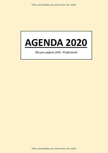 AGENDA 2020: Día por página (A4) - Profesional