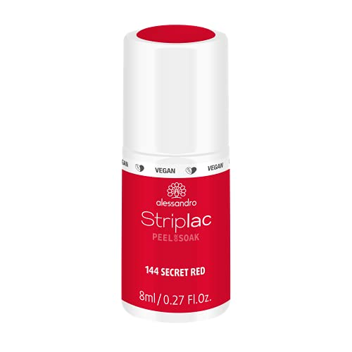 alessandro Striplac Peel or Soak Secret Red - LED-Nagellack in feurigem Rot - Für perfekte Nägel in 15 Minuten, 8 ml