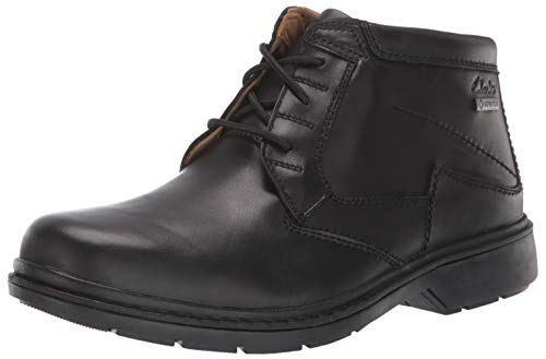Clarks Men's Rockie Hi GTX Ankle Boot, Black Waterproof Leather, 120 M US